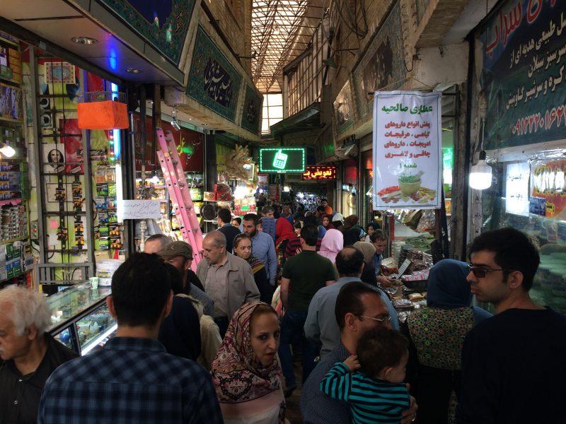 Folla al Tajrish Bazaar di Tehran