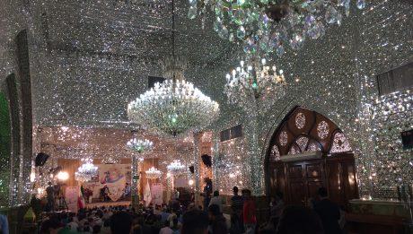 Particolare di interno di una moschea a Tehran