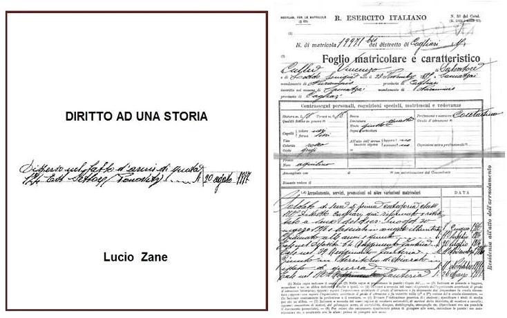 """Presentazione di """"Diritto ad una storia: Vincenzo Collu"""", una ricerca di Lucio Zane"""