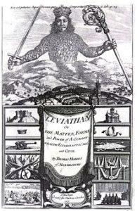 """Il frontespizio di """"Leviathan"""" di Thomas Hobbes (Londra 1651)"""